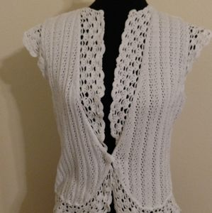 Cotton knit and crochet cover up